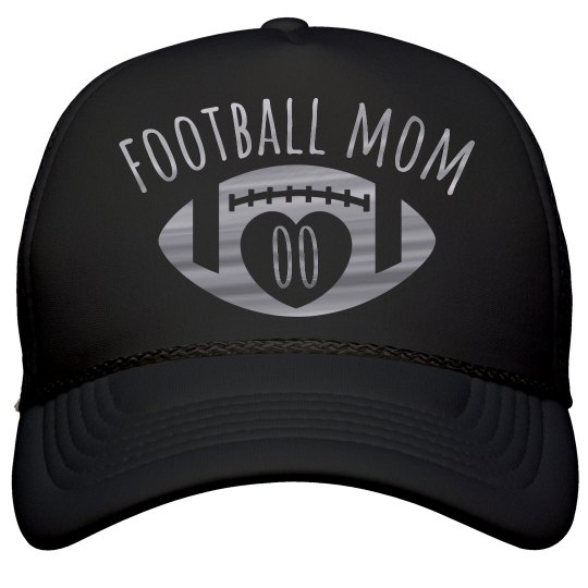 Metallic Silver Custom Football Mom