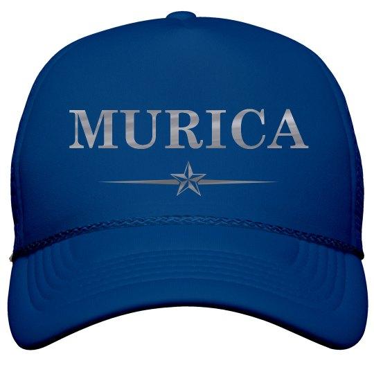 Metallic Silver Murica 4th Of July