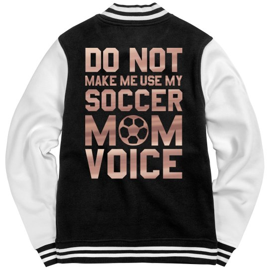 Metallic Soccer Mom Voice Jacket