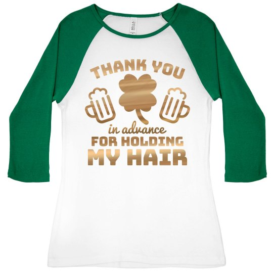 Metallic Thank You Drinking Raglan