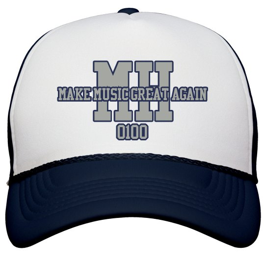MH SNAPBACK (Make Music Great Again) NAVY/SILVER