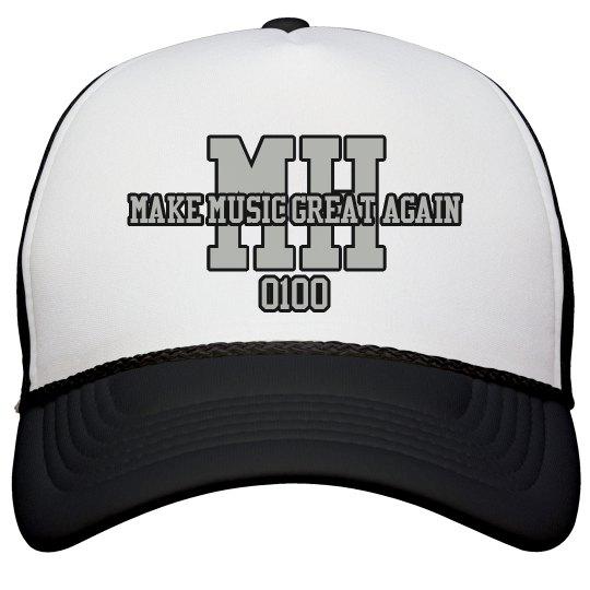 MH SNAPBACK (Make Music Great Again)BLACK/SILVER