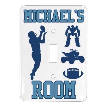 Michael's Room Plate