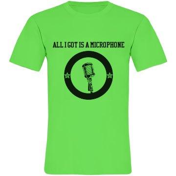 Microphone neon shirt