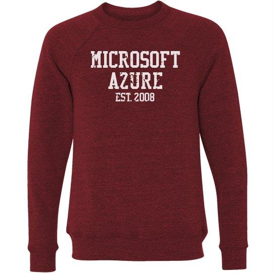 Microsoft Azure Est. 2008 Crewneck Sweater Red