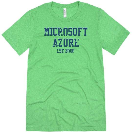 Microsoft Azure Est. 2008 Tee Ice Blue Triblend