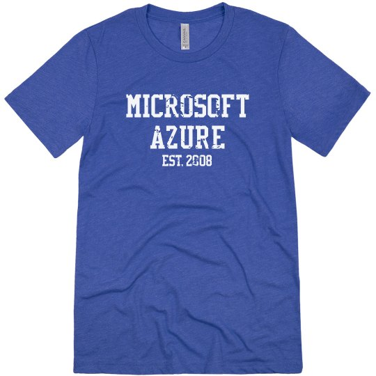 Microsoft Azure Est. 2008 Tee Vintage Royal
