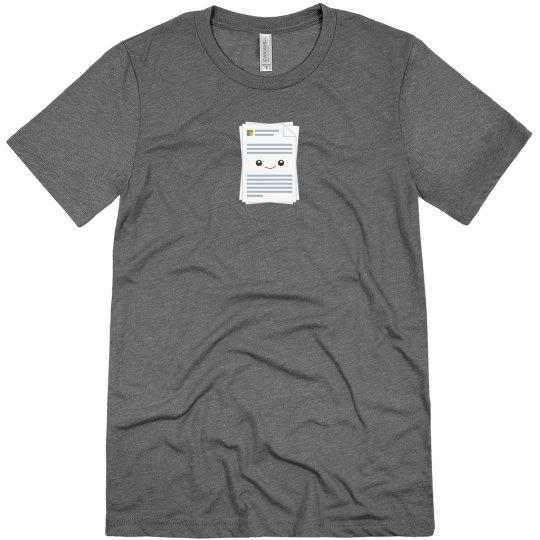 Microsoft Docs Logo Tee Grey Triblend