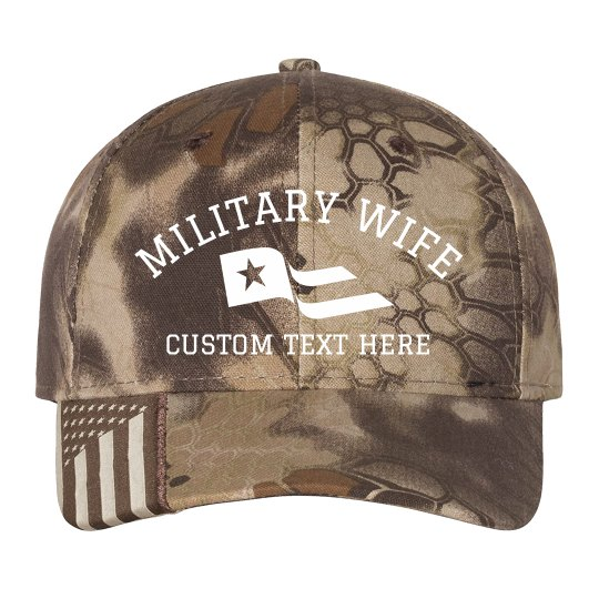 Military Wife Customizable Camo Hat