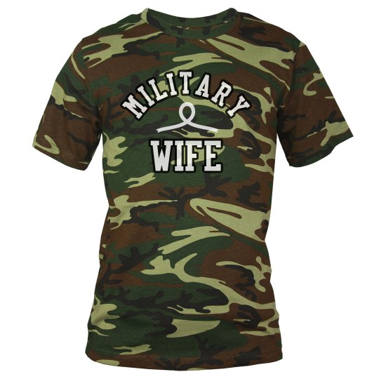Military Wife Customizable Camo Tee
