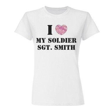 Military Wife Heart Tee