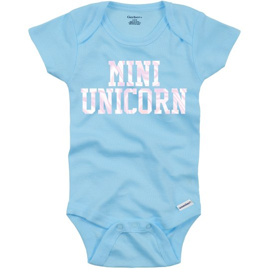 Mini unicorn onesie