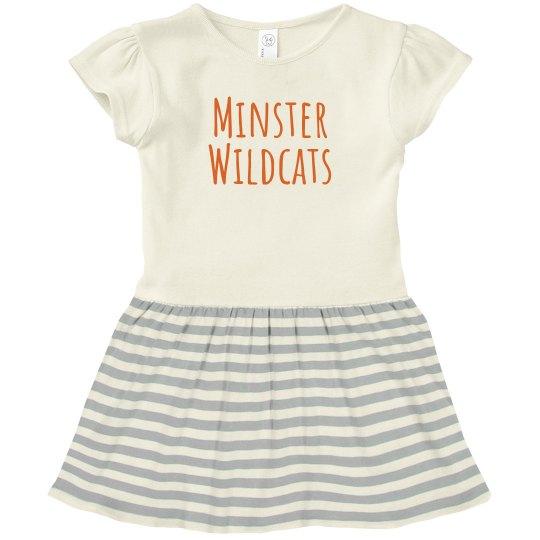 minster wildcats toddler dress