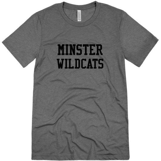 minster wildcats unisex t