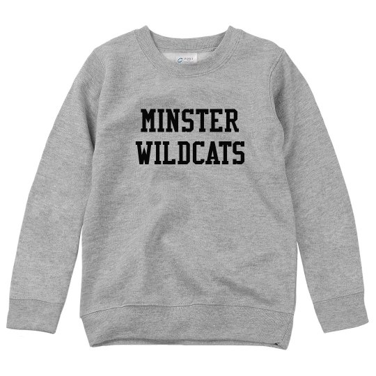 Minster Wildcats youth crewneck