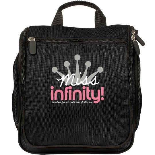 MISS INFINITY Logo Make-up Bag