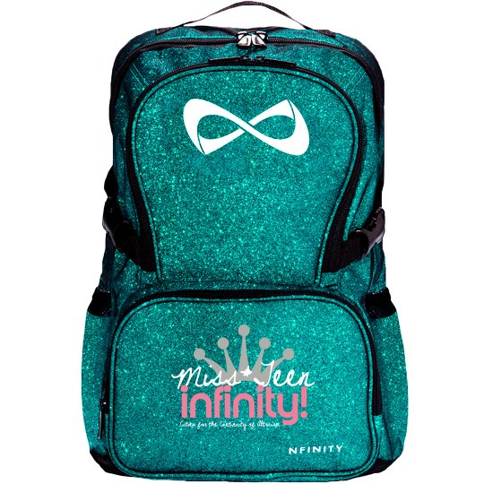 MISS TEEN INFINITY Logo Sparkle Backpack