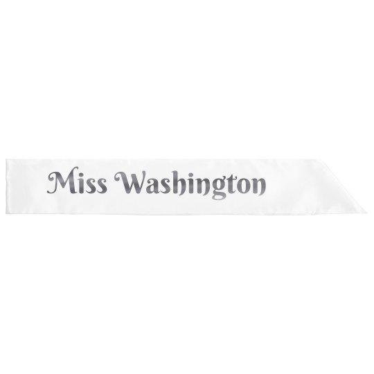 Miss Washington Glitter Sash