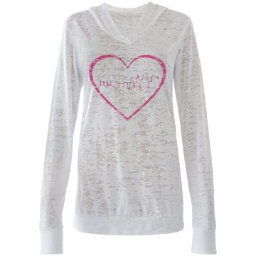 Misses Burnout Heart of the City Hooded T