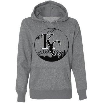 Misses KC Baseball Skyline GLITTER Hoodie