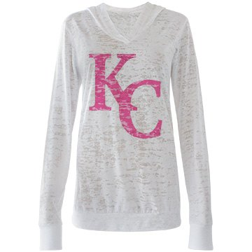 Misses KC Burnout Hooded T