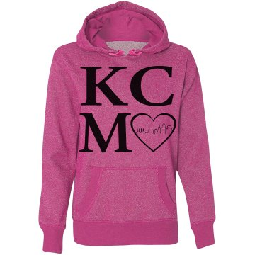 Misses KCMO Heart of the City GLITTER Hoodie