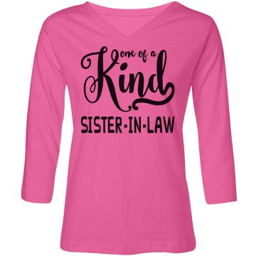 Misses Relaxed Fit LAT V-Neck 3/4 Sleeve T-Shirt