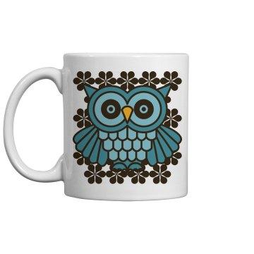 Mod Vintage Owl Mug