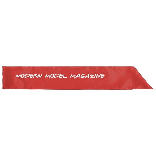 Modern Model Magazine Sash