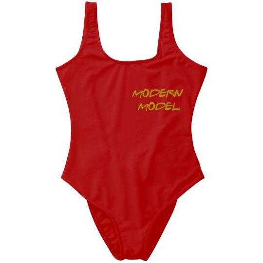 Modern Model One Piece Swimsuit