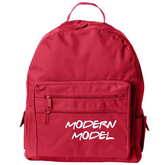 Modern Model Zippered Backpack