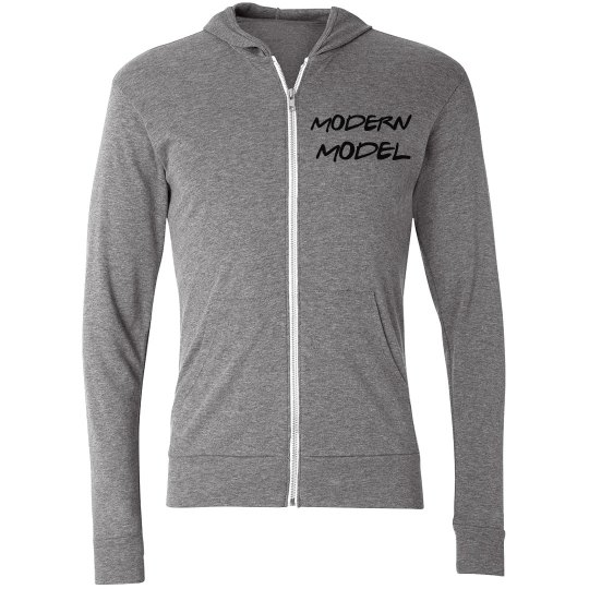 Modern Model Zippered Hoodie