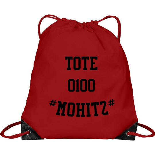 MOHITZ TOTE BAG (RED & BLACK)