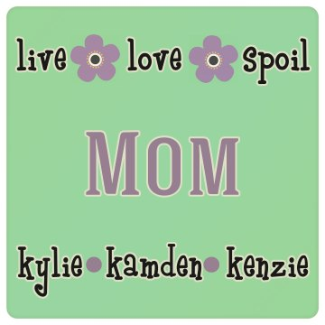 Mom Personalized Drink Coaster