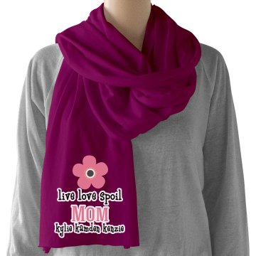 Mom personalized scarf
