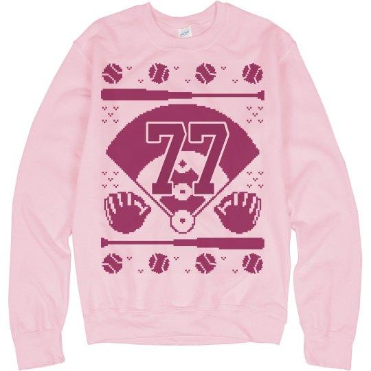 Mom's Baseball Sweater