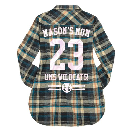 Mom's Custom Baseball Flannel