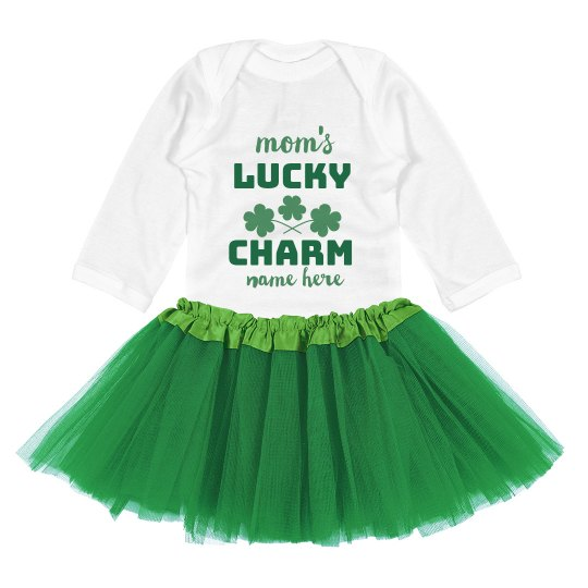 Mom's Lucky Charm Custom Baby Onesie & Tutu