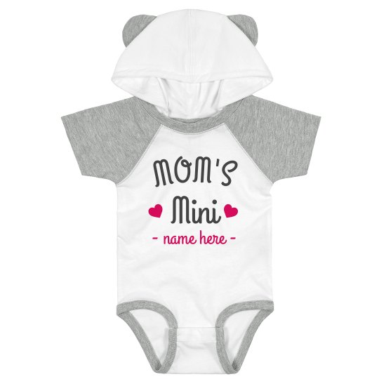 Mom's Mini Cutest Hooded Ear Baby Bodysuit