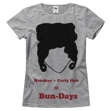 Mondays+Curly Hair Tee