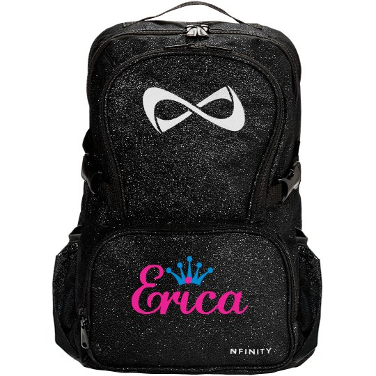 Monogram Cheer Glitter Backpack