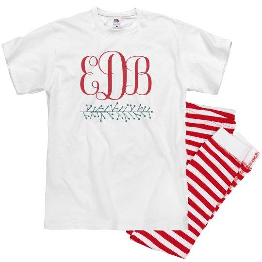 Monogram Christmas Family Pajamas