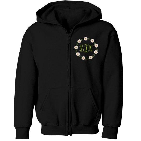 Monogram Flower Child Hoodie: KIDS