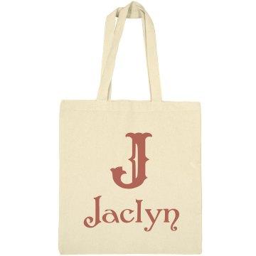 Monogram Personalized Tote Bag