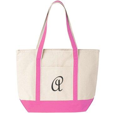 Monogrammed beach tote bag