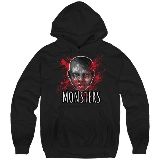 Monsters Hoodie Black