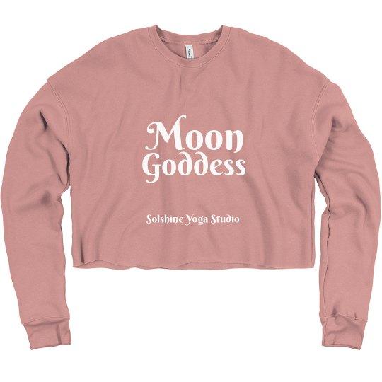 Moon Goddess Crop Sweatshirt