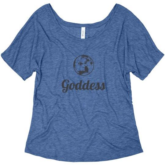 Moon Goddess flowy womens tee