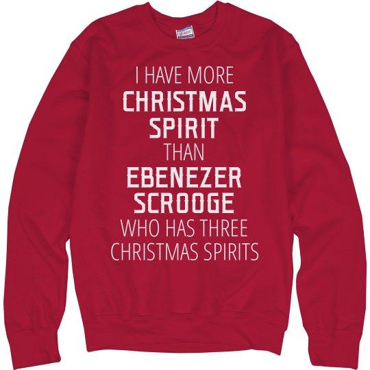 More Christmas Spirit Than Scrooge