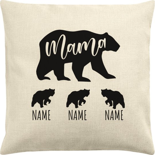 Mother Bear Of 3 Add Kids' Names
